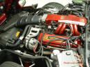 1990 Chevrolet C4 Corvette Custom Engine compartment, painted, cool.